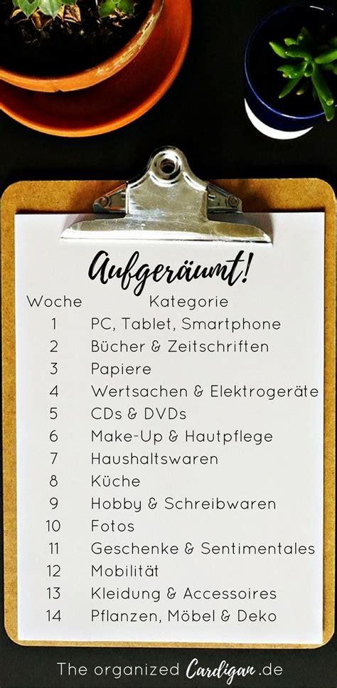 Wohnung Aufräumen Checkliste by Aufger 228 Umt In 14 Wochen Zu Einem Ordentlichen Zuhause