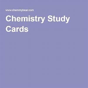 Chemistry Study Cards  U2026