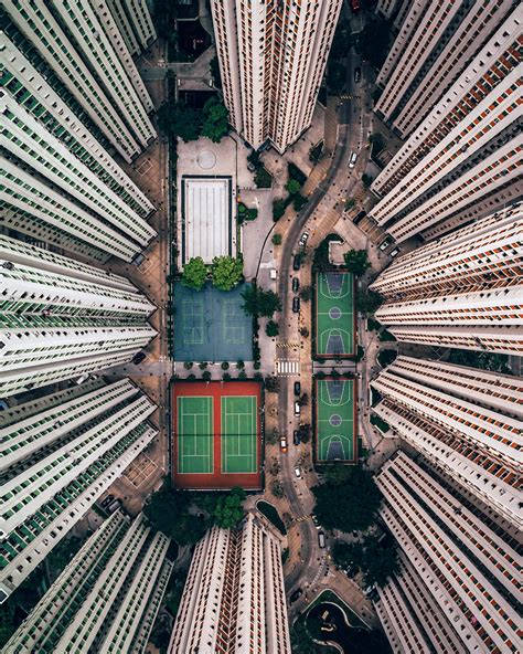 dramatic aerial drone   cities  nature