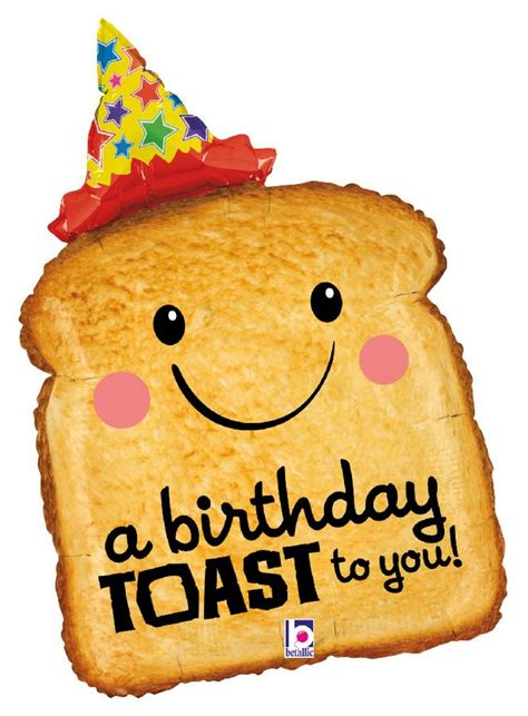 Happy Birthday Toast Images Karaloon Shop 1 Foil Balloon Happy Birthday Toast To You