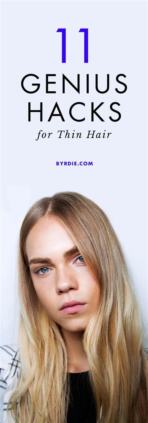 ideas  fine hair hairstyles  pinterest