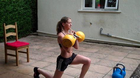 kettlebell leg lunge reverse blaster workout fitness 32kg marianne