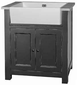 evier cuisine gris anthracite meuble bas de cuisine gris With marvelous photo de meuble de cuisine 12 evier 1 bac avec meuble