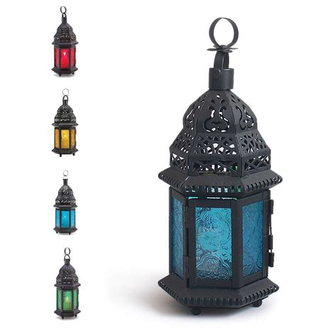 outdoor candle lanterns hanging glass metal moroccan delight garden candle holder table hanging lantern new