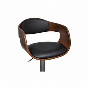 Tabouret De Bar Cuir : tabouret de bar design en bois et simili cuir noir hauteur ~ Dailycaller-alerts.com Idées de Décoration