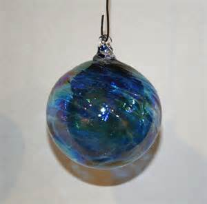 hand blown glass christmas ornaments aqua by kevinfultonglass