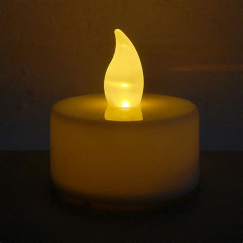 flickering led candle lights candle tea lights flickering led pack of 6 the
