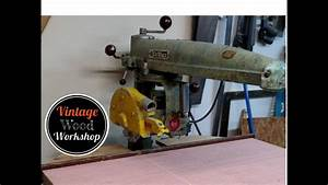 1956 Dewalt Radial Arm Saw- Vintage Wood Workshop