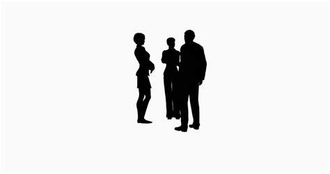 Silhouette Persone Sedute 4k Business Silhouette Talking Cg 02751 4k Stock