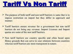 Tariff and Non Tariff Barriers in Trade (Types of Non ...