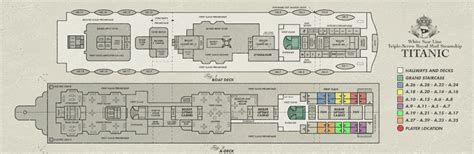 Titanic Boat Deck Map by Map Titanic Adventure Out Of Time Wiki Fandom