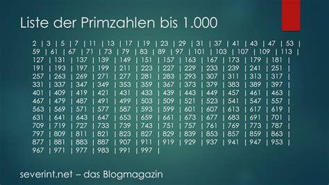 liste one liste der primzahlen bis 1 000 das blogmagazin