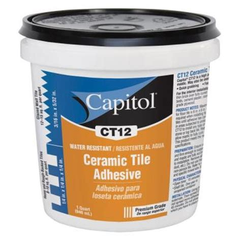 capitol 1 qt high performance ceramic tile adhesive and