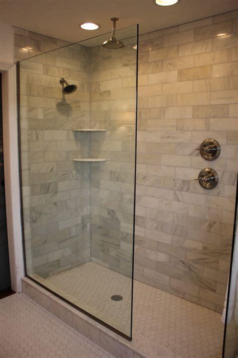 walk in showers design of the doorless walk in shower bath showers and master bathrooms