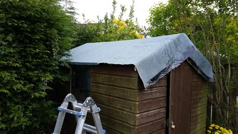 felt shed new heat bonded felt for leaking shed roof ruddy services