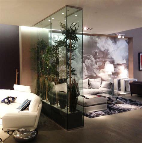 separation de bureau en verre décor intérieur en verre serre intérieure