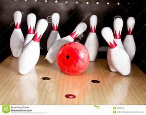 Bowling strike stock image. Image of leisure, wood ...
