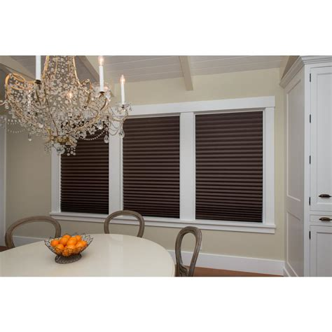 l shade redi shade chocolate brown paper pleated shade 36 in w x 72 in l 4 pack 1254492 the home