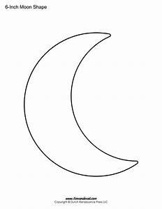 Blank Moon Templates Printable Moon Shapes