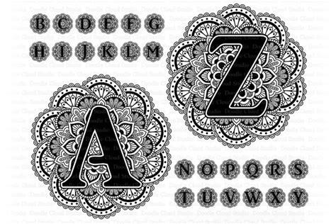 Mandala svg designs for cricut and silhouette. Mandala Alphabet SVG Bundle. | Pre-Designed Photoshop ...