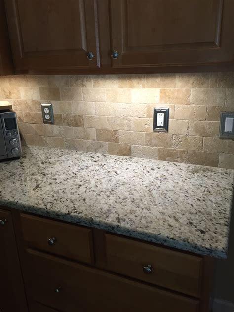 travertine kitchen backsplash tumbled travertine backsplash for the home