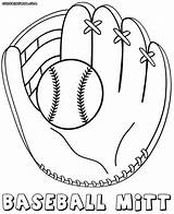 Glove Baseball Coloring Pages Colorings sketch template