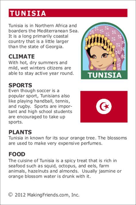 facts  tunisia makingfriends