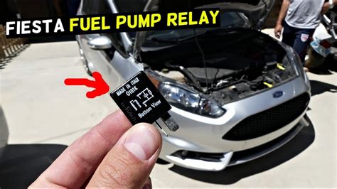 Ford Fiesta Fuel Pump Relay Location Youtube