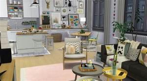 sims 4 appartement apartment scandinavian style scandinave With beautiful deco entree de maison 2 murs deau creation espace deau