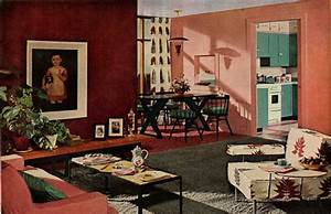 1950s interior design and decorating style - 7 major