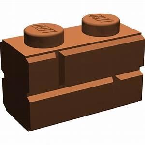 LEGO Reddish Brown Brick 1 x 2 with Embossed Bricks ...