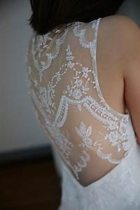 claire pettibone inspired backless sheer back lace by With lace sheer back wedding dress