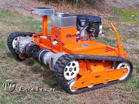 trex rc robot lawn mower is built like a tank