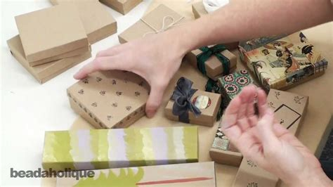 Boxes For Decoration - techniques and ideas for decorating kraft boxes