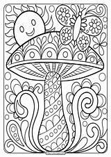 Coloring Mushroom Printable Adult Sheet Adults Books Inspirations Awesome Coloringoo Mashroom Grown Ups Brothers Mario Sheets Cool Flower Tweet Whatsapp sketch template