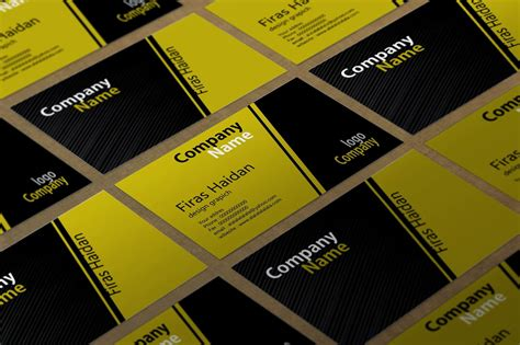 Kartu Nama Cdr Simple Business Yellow Black Card Template Visiting Card Images Full Hd In Illustrator Business With Photoshop Labels Word 7.0 Download Duplicate Design A Indesign