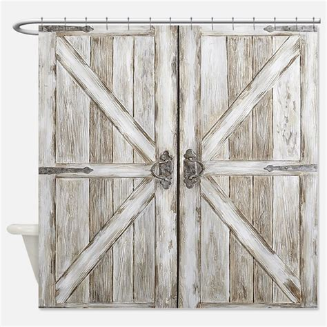 barn door shower curtains barn door fabric shower