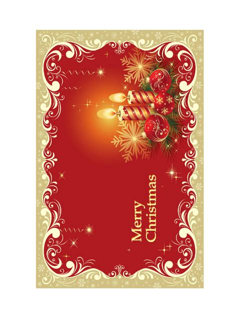 christmas card template   templates   word