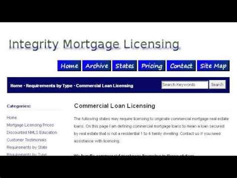 commercial mortgage broker requirements  illinois youtube