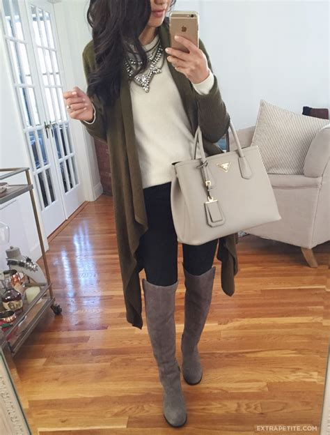 knee boots outfit fall petite corso como laura grey outfits wear friendly extrapetite casual winter looks extra boot suede gray