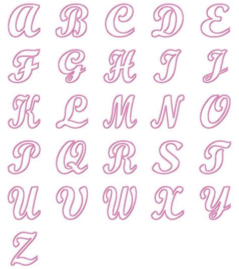 satin alli alphabet  embroidery boutique lettering alphabet bubble letters alphabet hand