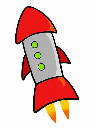 Rocket Clip Clipart Launch Rockets Cartoon Cliparts