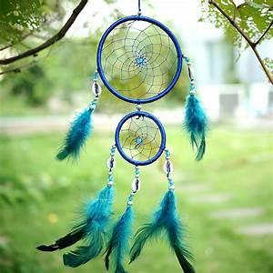 Dreamcatcher with Blue Feathers - My Feng Shui Store