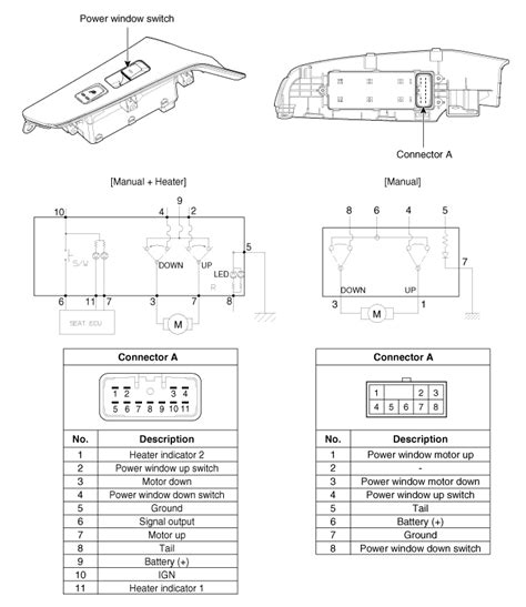 kia forte power window switch circuit diagram power