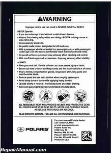 2014 Polaris Ranger 800 6x6 Crew Owners Manual