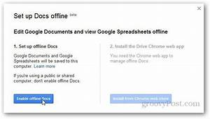 how to enable and set up google docs offline With google docs enable offline editing