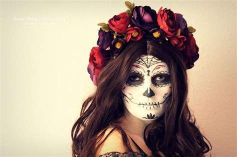 Dia De Los Muertos Sugar Skull Makeup & Diy Blumenkranz