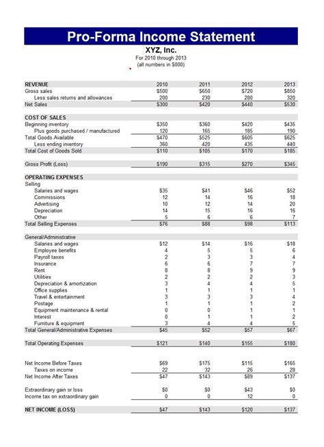 Income Statement Template 41 Free Income Statement Templates Exles Template Lab