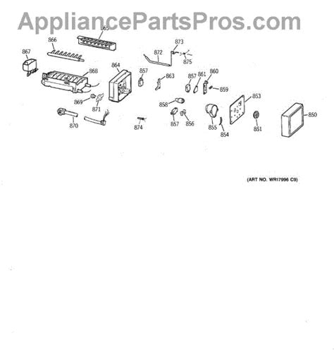 parts  ge zisbdca icemaker wrx parts appliancepartsproscom