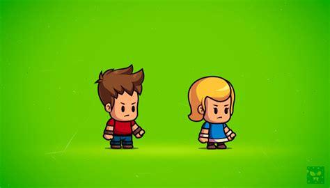 Cute Boy and Girl Cartoon Characters
